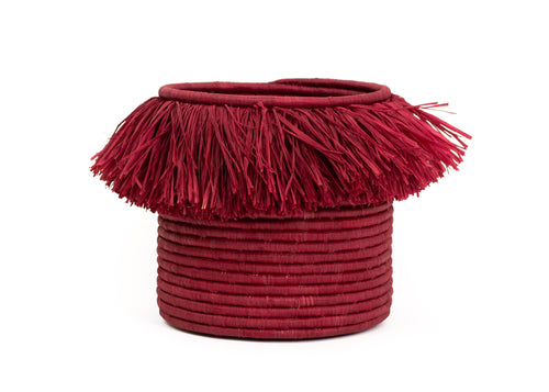 Earth Red Fringed Large Catch All