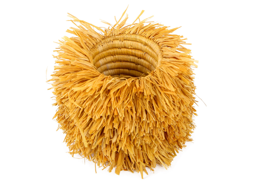 Mustard Bomba Brush Cup - KAZI - Artisan made high quality home decor and wall art