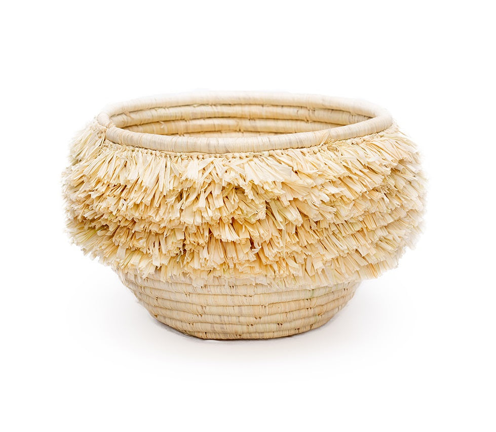 Small All Natural Fringe Kisasa Deep Bowl - KAZI - Artisan made high quality home decor and wall art