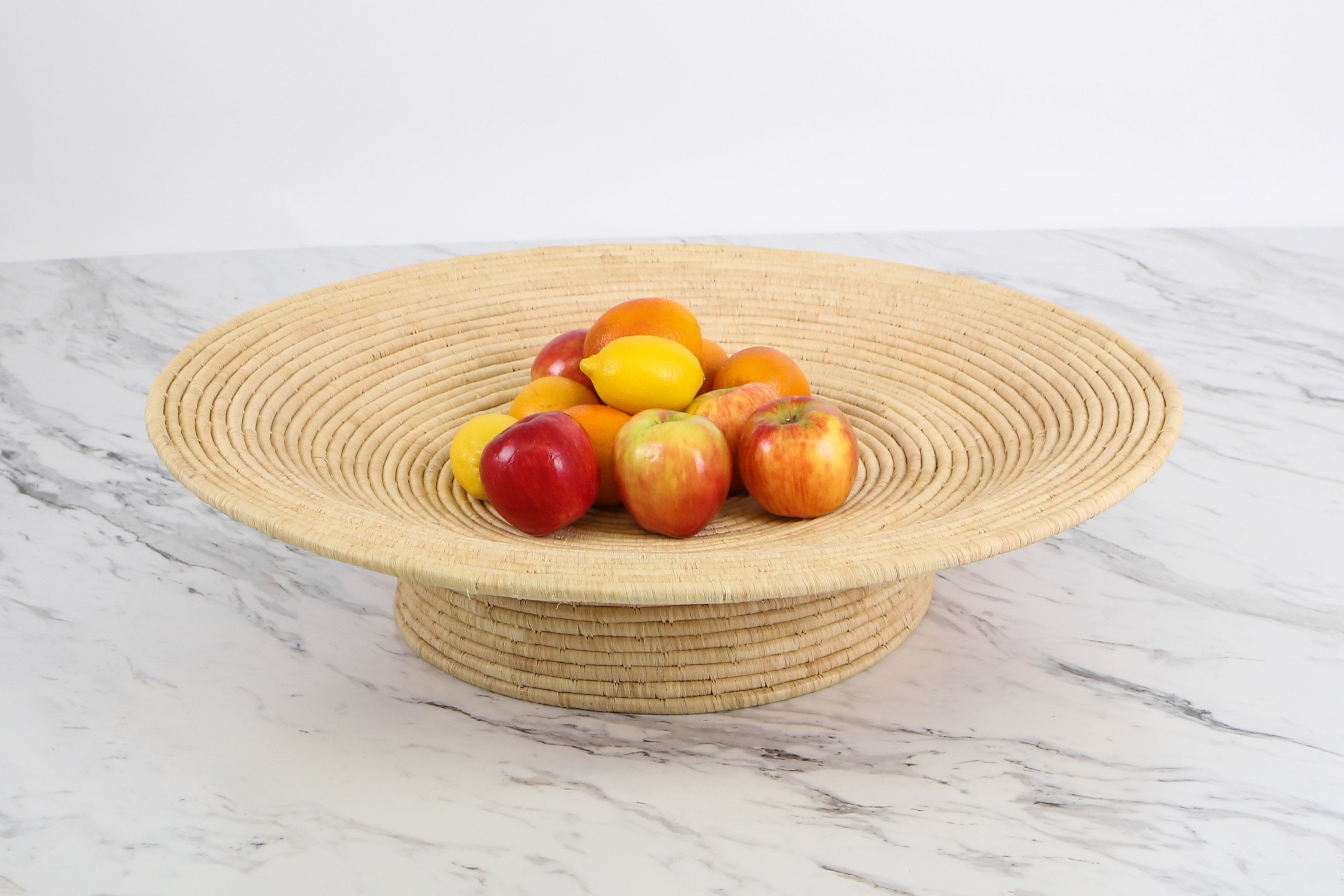 Large All Natural Footed Bowl - KAZI - Artisan made high quality home decor and wall art