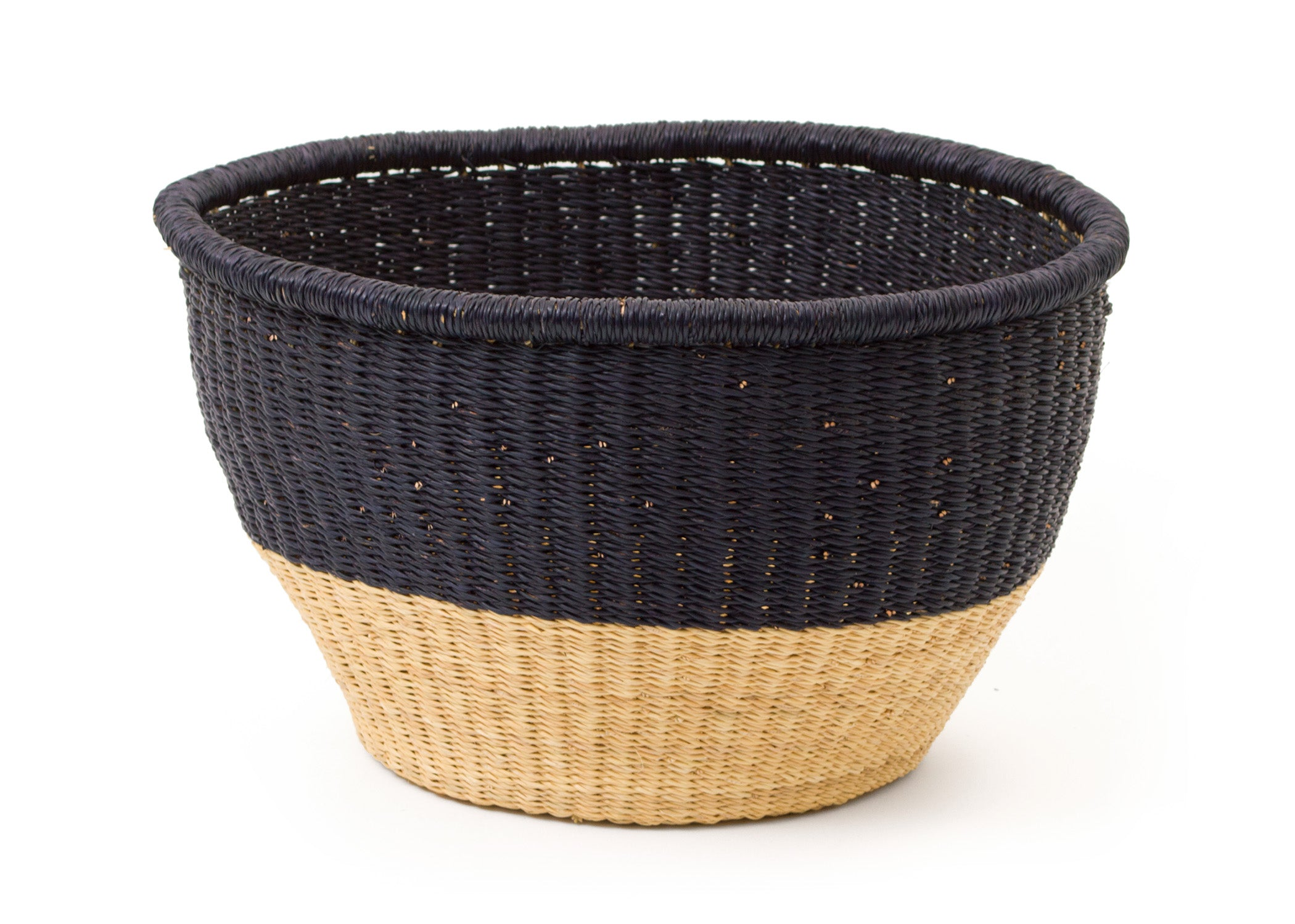 Large Black Dipped Storage Basket - KAZI - Artisan made high quality home decor and wall art