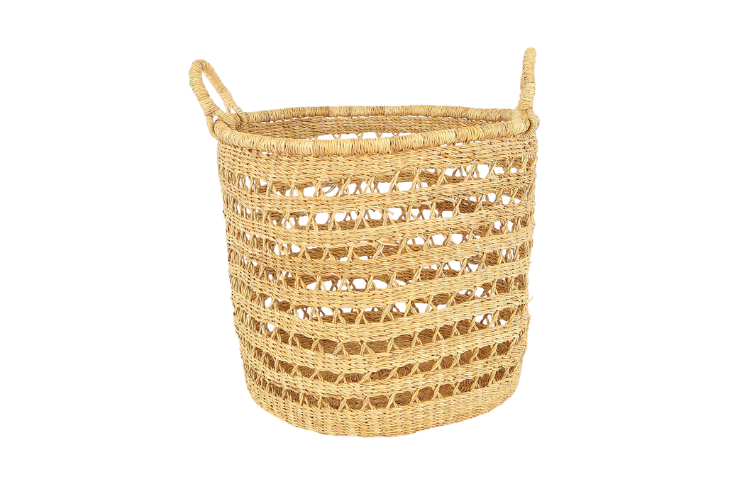 All Natural Lace Storage Basket - KAZI - Artisan made high quality home decor and wall art