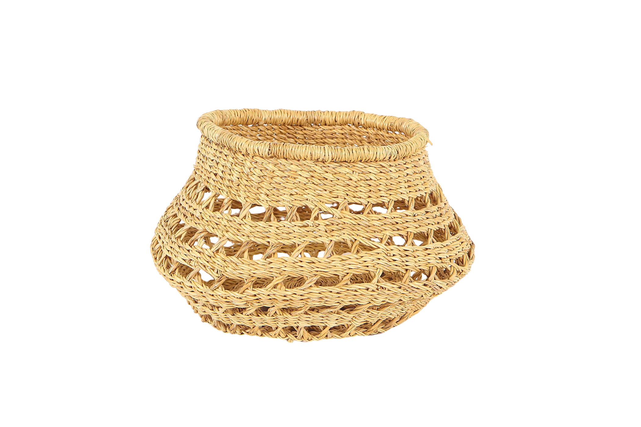 Round Tapered All Natural Lace Fruit Basket - KAZI - Artisan made high quality home decor and wall art