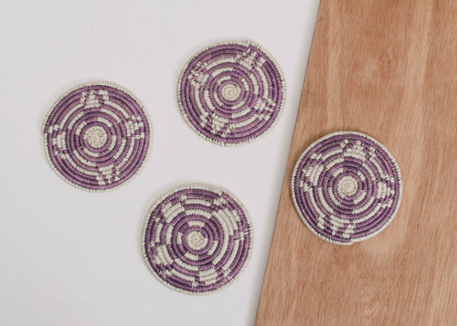 Dusty Rose Bahati Coasters