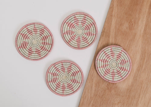 Pale Blush Hope Coasters