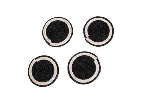 Black Sisal Coasters