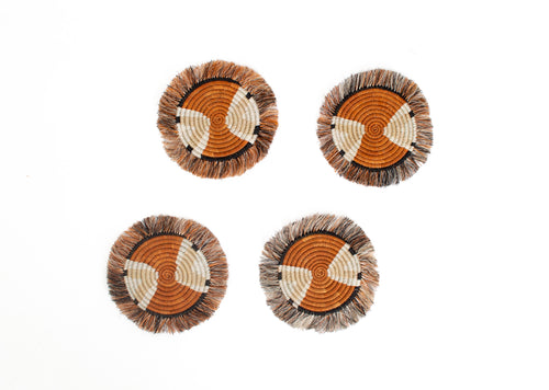 Canyon Clay Mlima Fringed Coasters