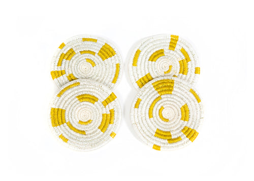 Geo Citron Coasters, Set of 4