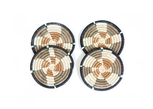 Brown Sugar Kwizera Coasters, Set of 4