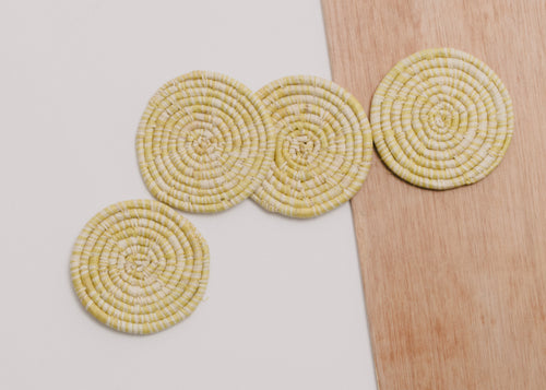 Heathered Sun Raffia Coasters - Set of 4