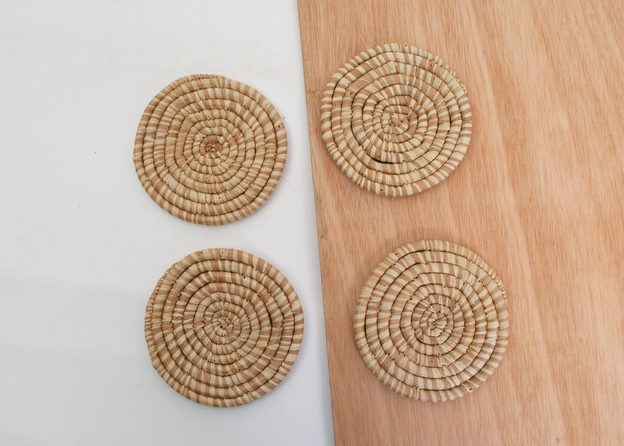 Camel Heathered Coasters - KAZI - Artisan made high quality home decor and wall art