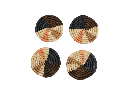 Peach Wheel Coasters