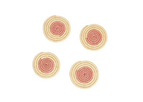 Blossom On the Dot Raffia Coasters
