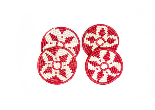 Earth Red Coasters, Set of 4
