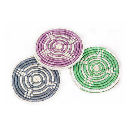 Peppermint + Rosewod Hope Coaster Set of 6