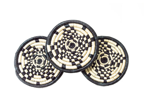Black and White Coaster Set of 6