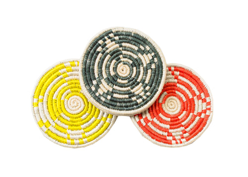 Orange + Yellow + Green Coaster Set of 6