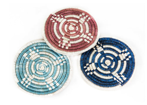 Blue + Rosewood Hope Coaster Set of 6