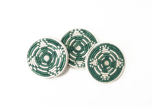 Kelly Green Coaster Set of 6