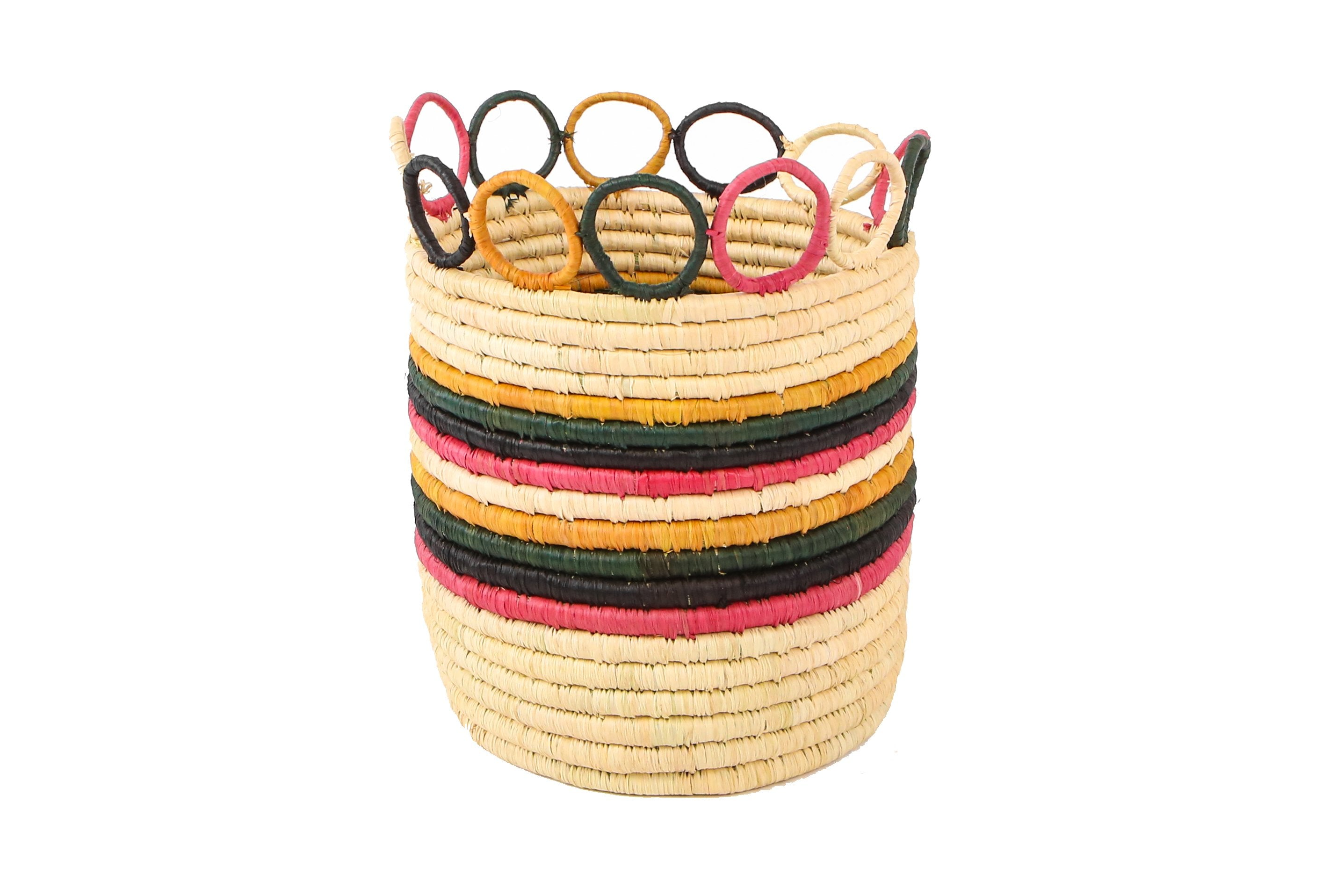 "6"" Medium Mod Rainbow Hooped Planter (M) - KAZI - Artisan made high quality home decor and wall art"