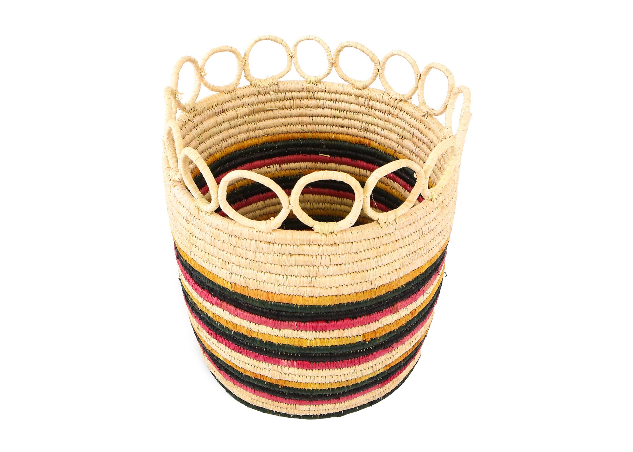 "8"" Large Mod Rainbow Hooped Planter - KAZI"