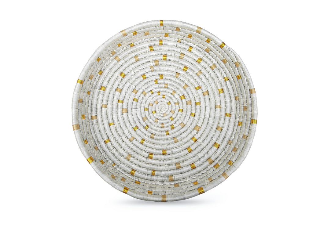 Dotted Gold Decorative Tray - KAZI