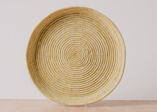Heathered Sun Round Raffia Tray