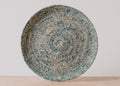 Heathered Blue Night Round Raffia Tray