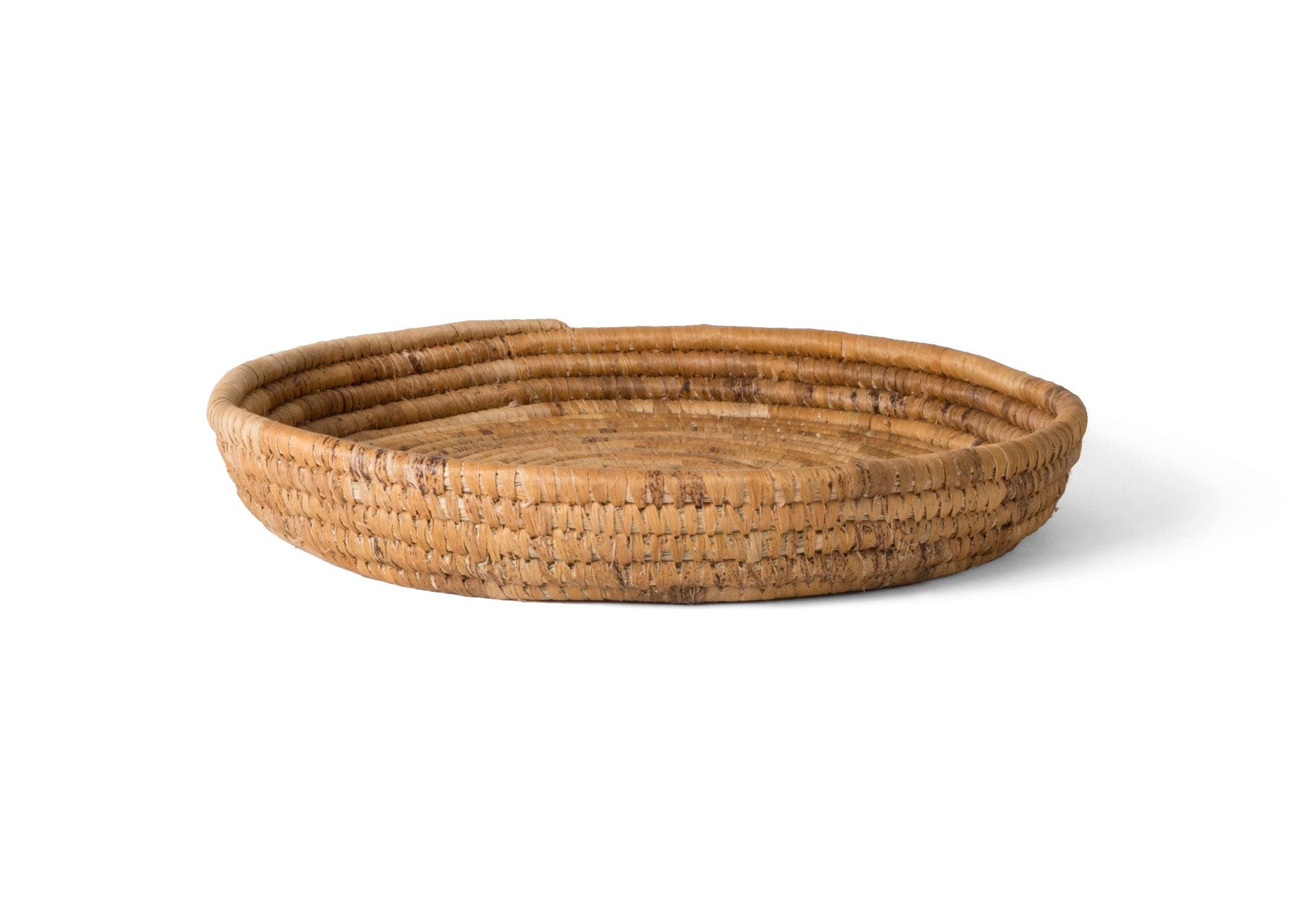 Banana Bark Round Raffia Tray - KAZI - Artisan made high quality home decor and wall art