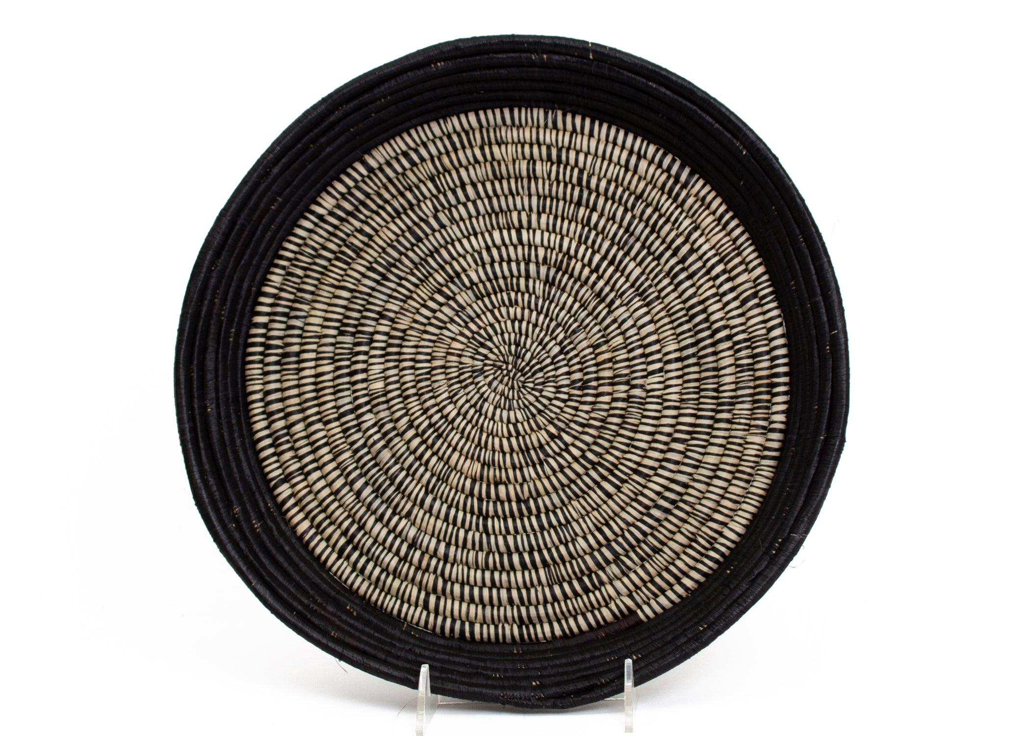 Black Heathered Raffia Tray - KAZI - Artisan made high quality home decor and wall art