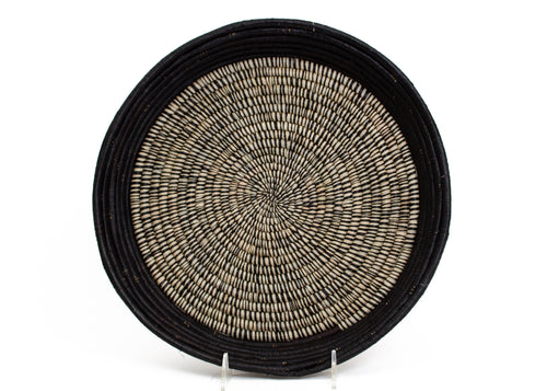 Black Heathered Raffia Tray