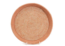Load image into Gallery viewer, Peach Heathered Raffia Tray