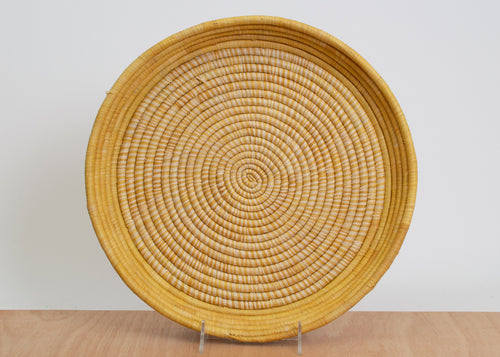 Mustard Heathered Raffia Tray