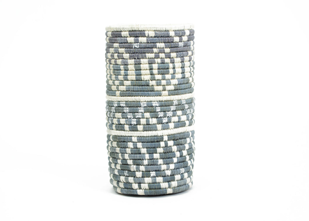 Metallic + Mirage Gray Diyama Vase - KAZI - Artisan made high quality home decor and wall art