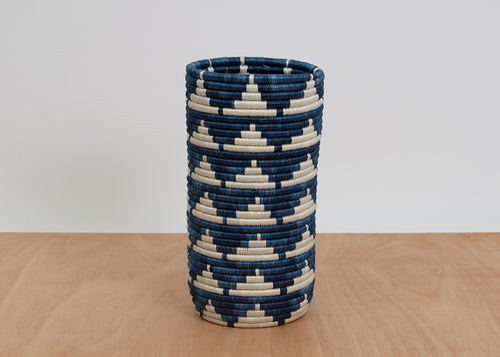Tall Blue Night Igisozi Vase