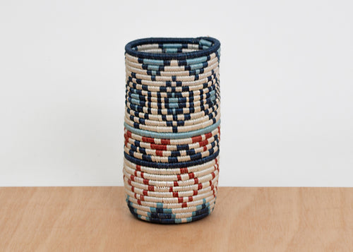 Denim Blue + Ginger Diyama Vase