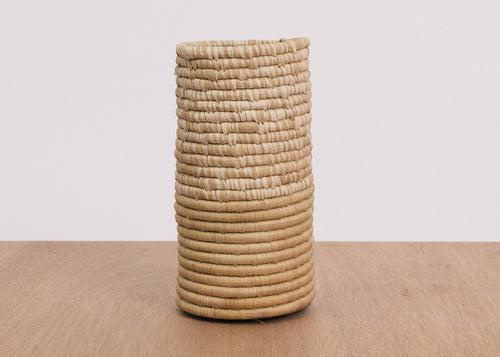 Half Heathered Soft Gold Raffia Vase