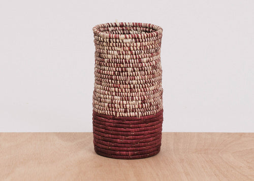 Half Heathered Berry Raffia Vase