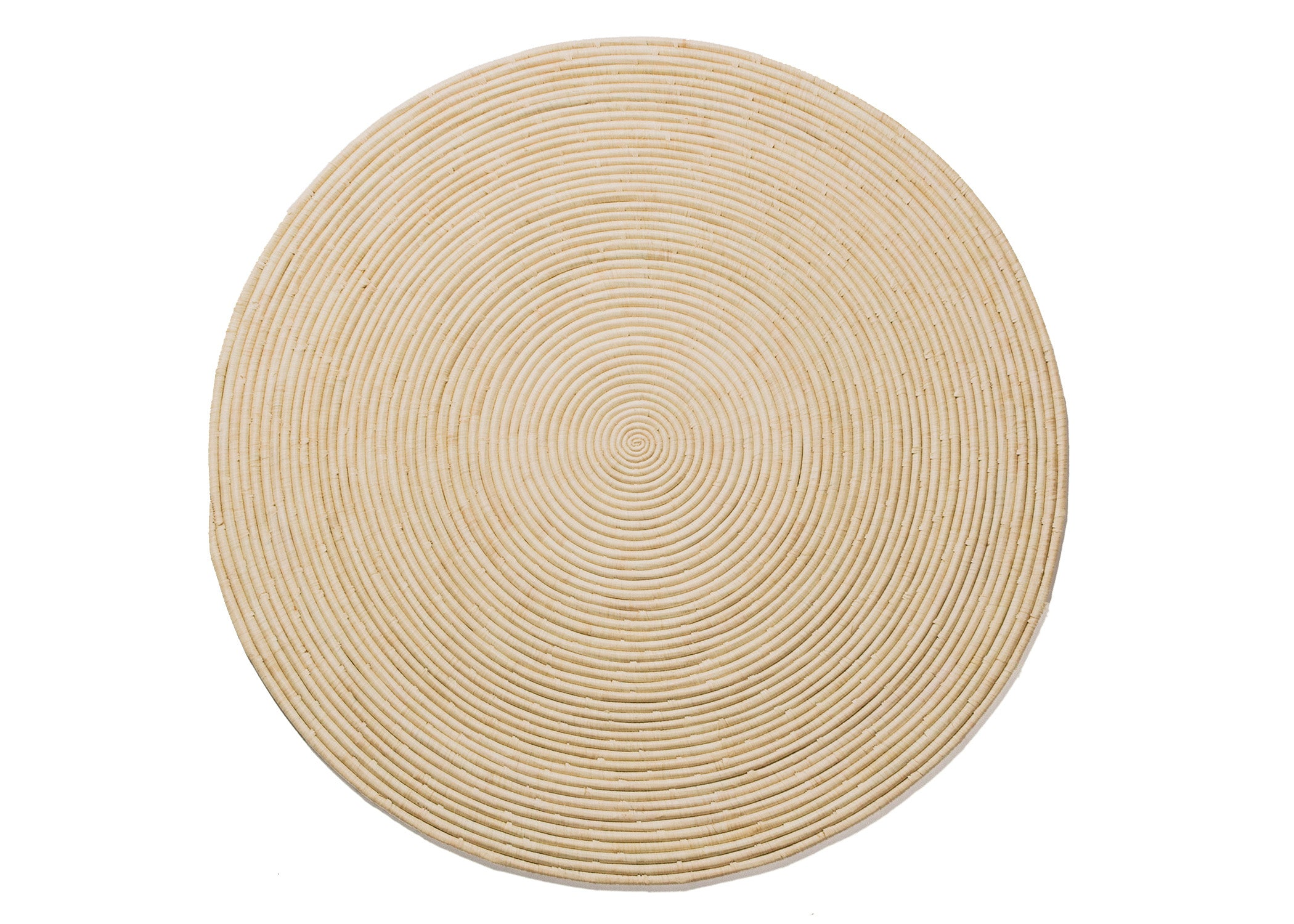 Natural Large Raffia Disc - KAZI - Artisan made high quality home decor and wall art