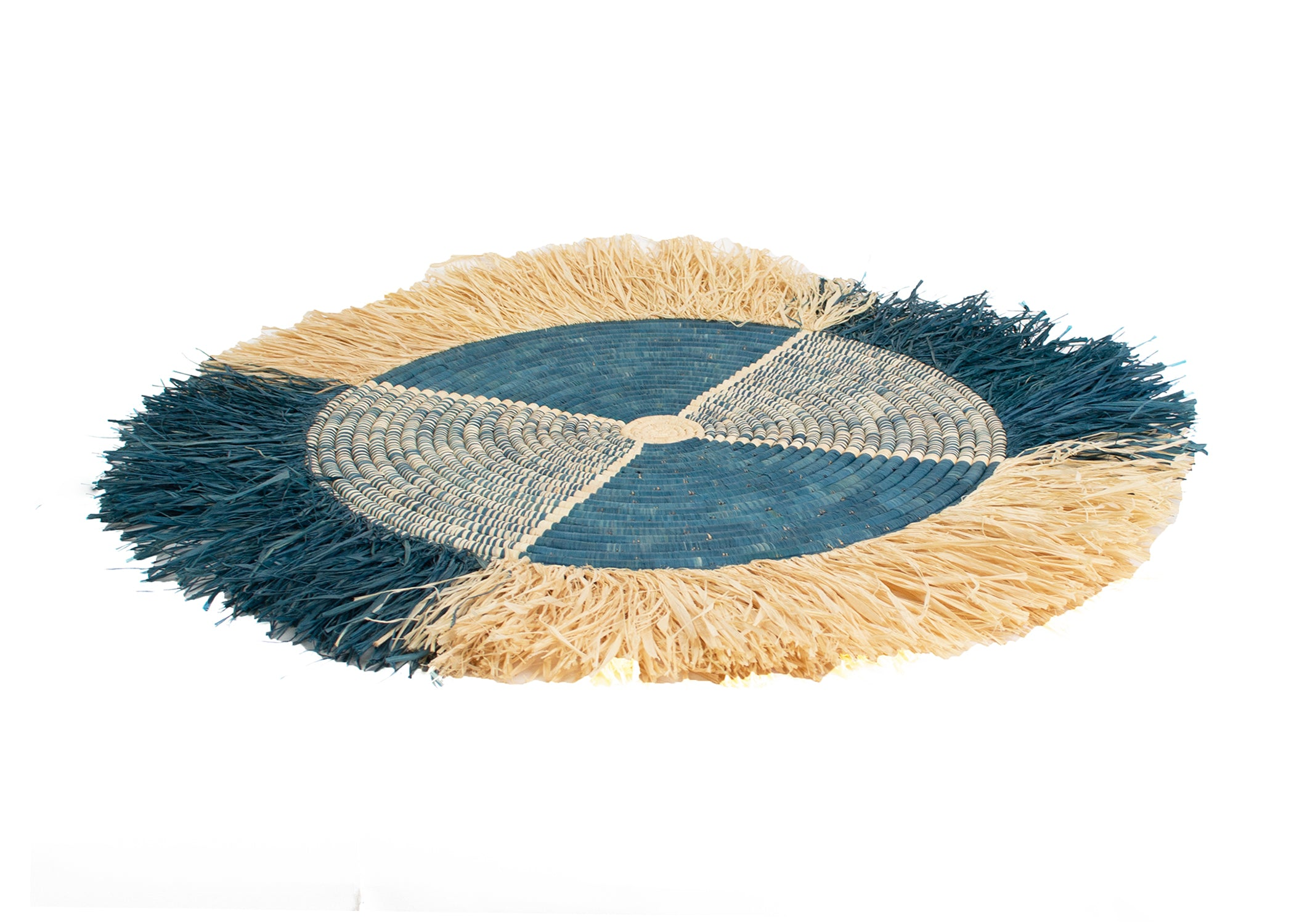 "22"" Large Vita Fringed Niagara Wall Disc - KAZI - Artisan made high quality home decor and wall art"