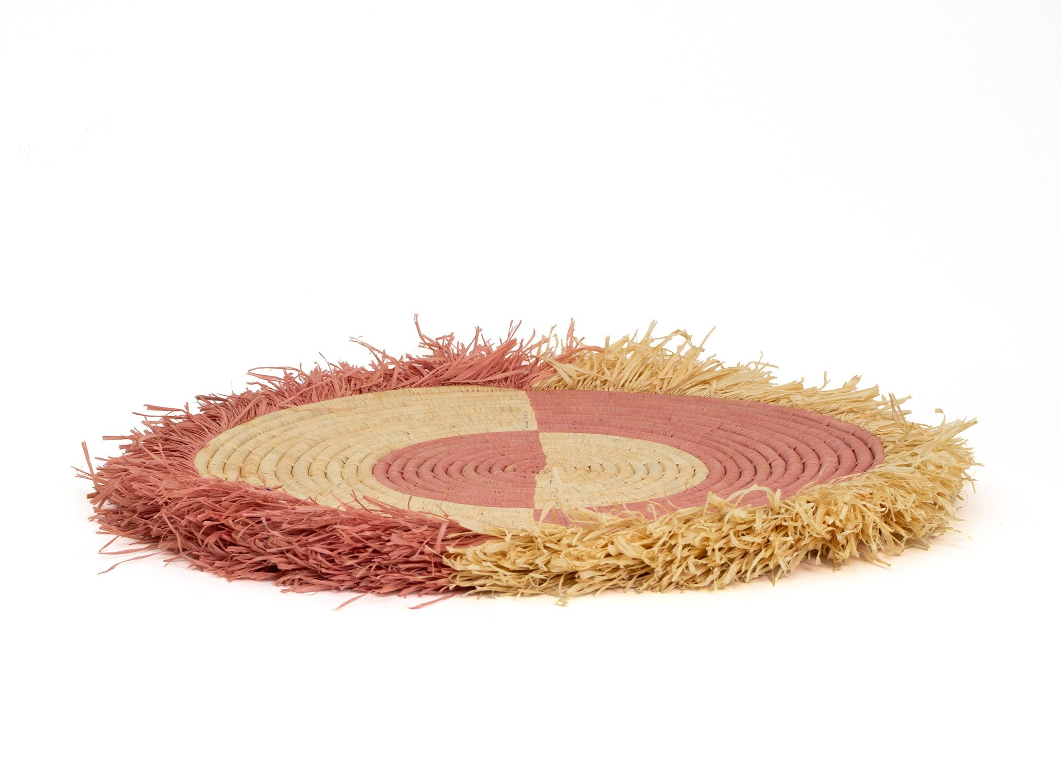 "21"" Large Blossom Fringed Wall Disc II - KAZI - Artisan made high quality home decor and wall art"