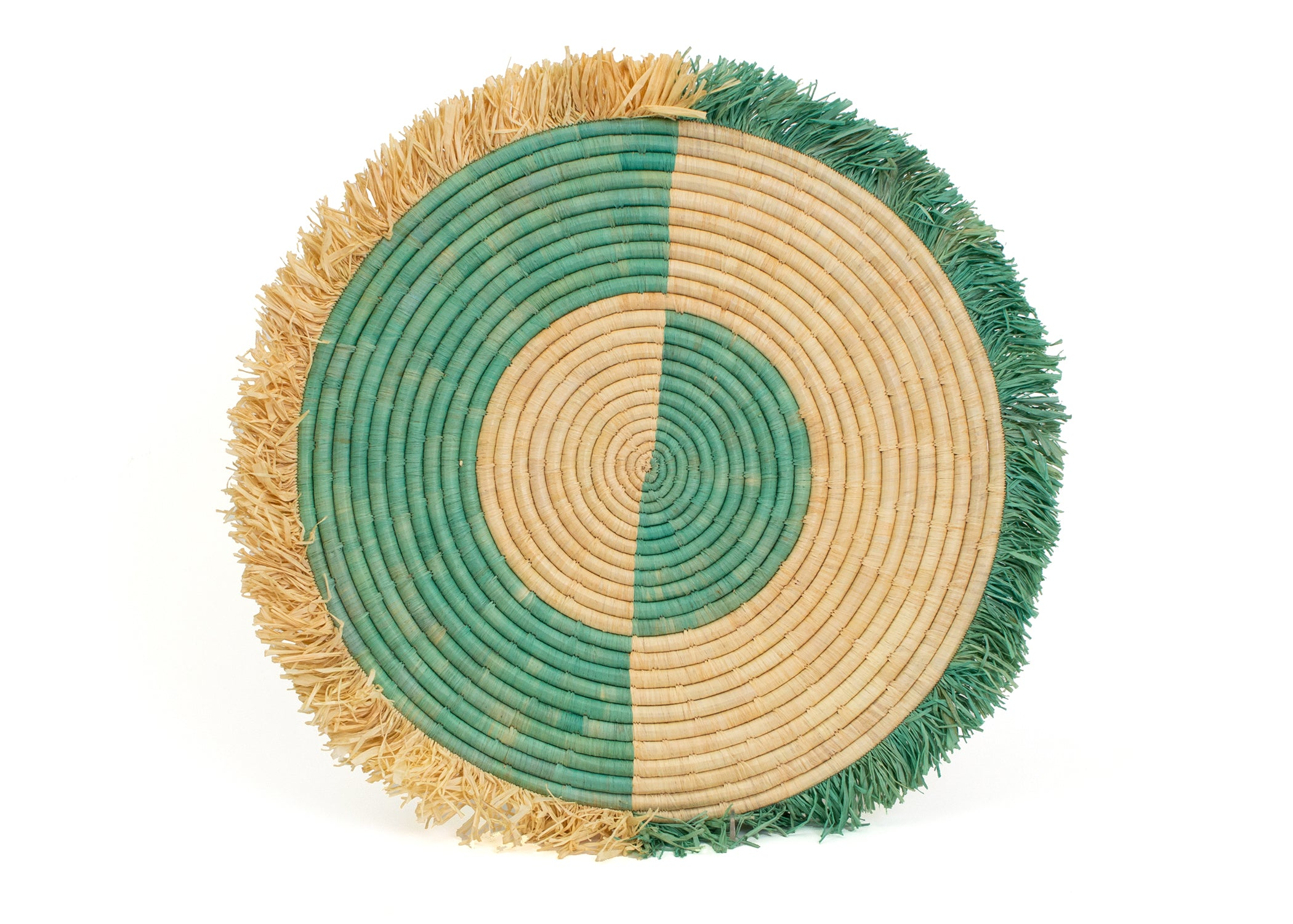 "21"" Large Bermuda Fringed Wall Disc II - KAZI - Artisan made high quality home decor and wall art"