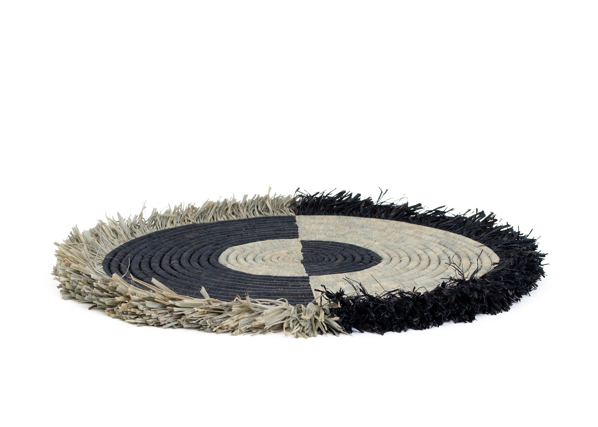 Carbon Fringed Disc II - KAZI - Artisan made high quality home decor and wall art
