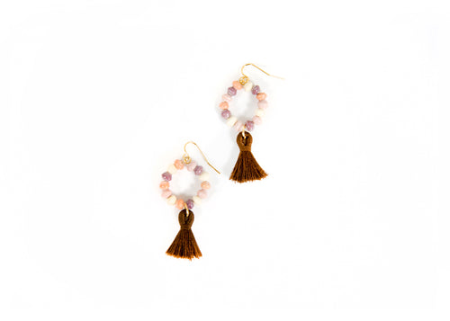 Desert Rose Tasseled Earrings