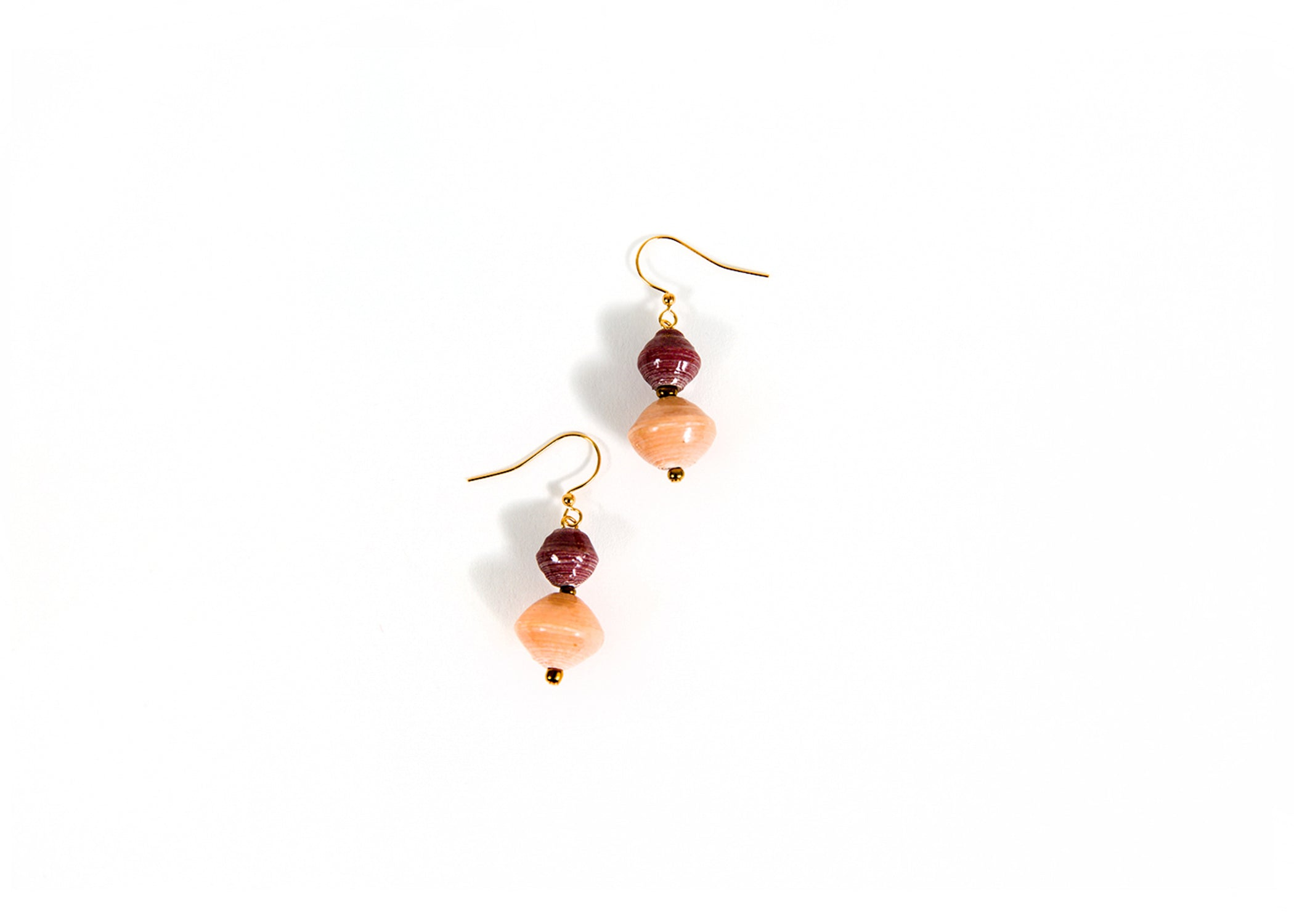 Rose Beaded Earrings - KAZI - Artisan made high quality home decor and wall art