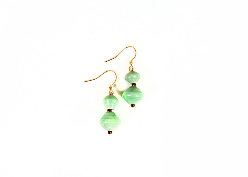 Sea Grass Beaded Earrings