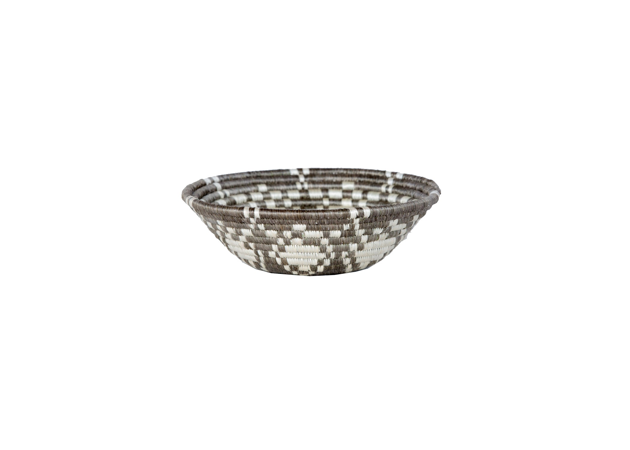 "6"" Small Light Taupe Ikaze Round Basket - KAZI - Artisan made high quality home decor and wall art"