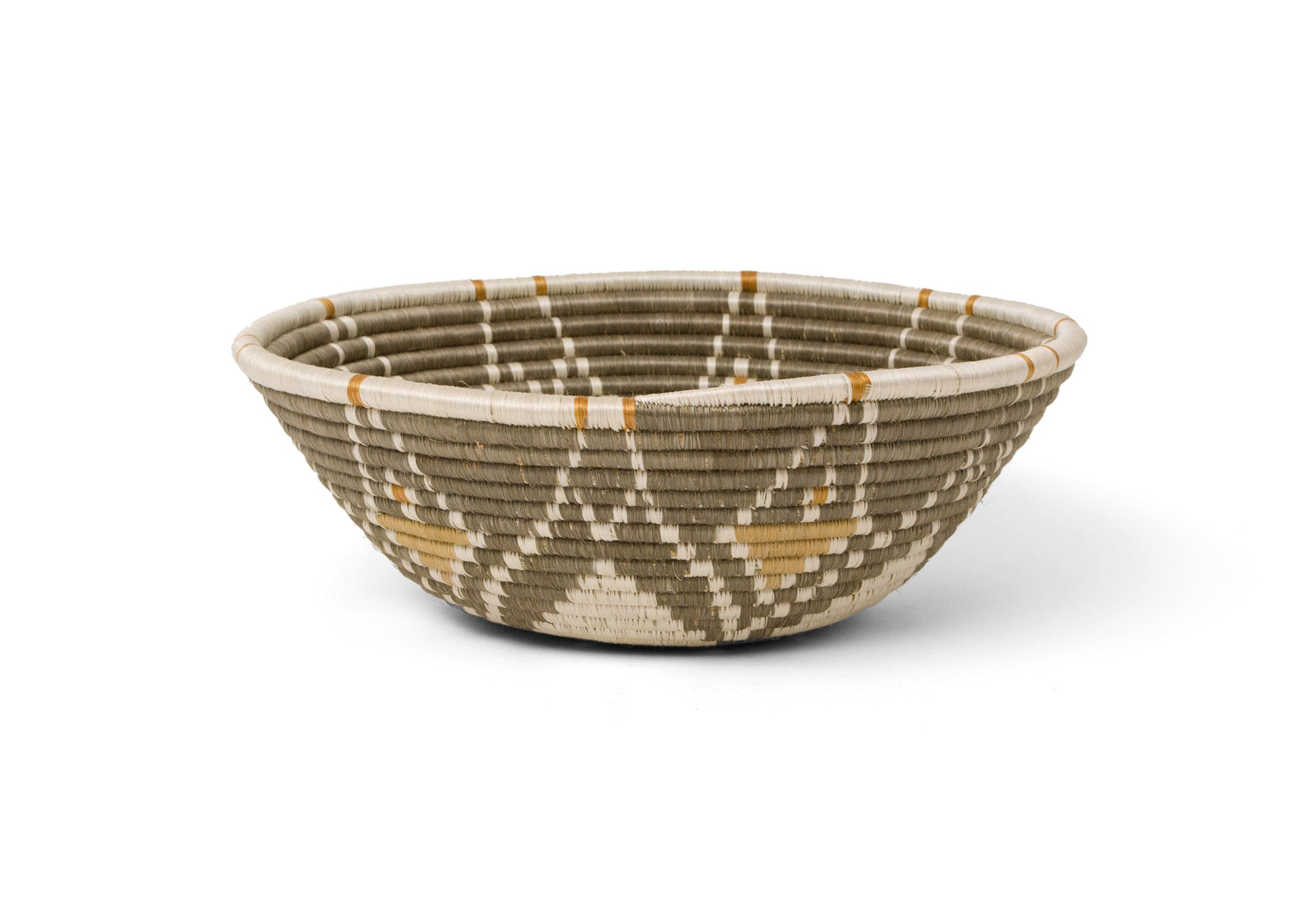 Jumbo Light Taupe Intore Bowl - KAZI - Artisan made high quality home decor and wall art