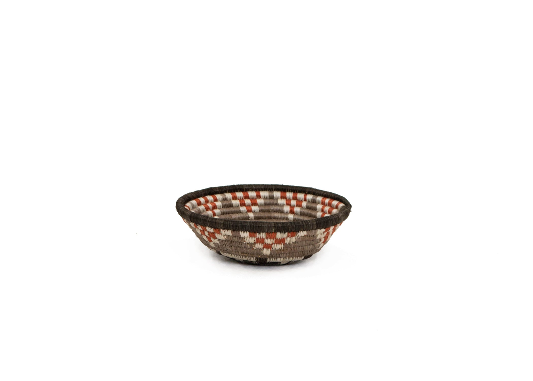 "6"" Small Sunset Brown Hope Round Basket - KAZI - Artisan made high quality home decor and wall art"