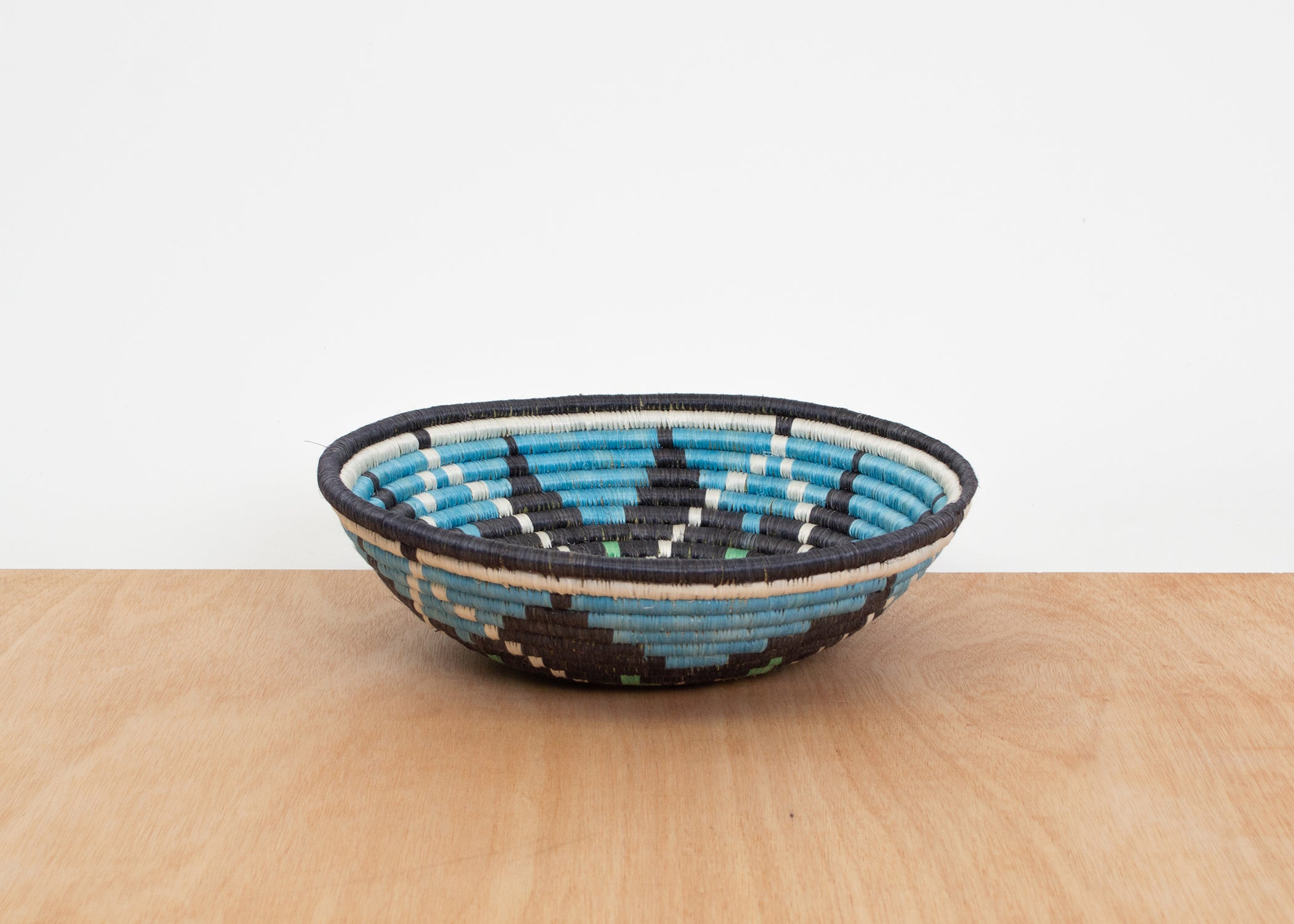"12"" Large Arctic Blue Tumaini Bowl - KAZI - Artisan made high quality home decor and wall art"
